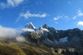 Cordillera Blanca Santa Cruz Track, Punta Union pass Royalty Free Stock Photo
