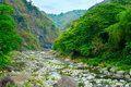 Cordillera mountains river lanscape with a in philippines Royalty Free Stock Image