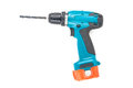 Cordless drill with white background Royalty Free Stock Photos