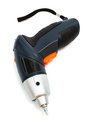 A cordless screwdriver on white background Stock Photography