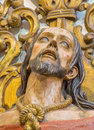 Cordoba the carved bust of christ in the bond in church eremita de nuestra senora del socorro on side altar by unknown artist Stock Photography