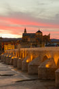Cordoba at night, Spain Stock Photography