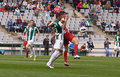 Cordoba spain march charles dias oliveira r in action during match league cordoba w vs almeria r at the municipal stadium of the Stock Image