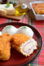 Cordon bleu with rice traditional french food Royalty Free Stock Photo
