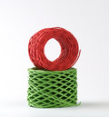Cords red and green roll Royalty Free Stock Photography