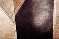 Corduroy background abstract sewed brown Stock Photos