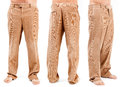 Corduroy trousers on white background Royalty Free Stock Image