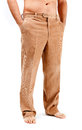 Corduroy trousers on white background Royalty Free Stock Photography