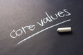 Core values handwriting with chalk of topic Royalty Free Stock Photography