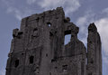 Corfe castle the ruins photographed early afternoon in aug Stock Photos