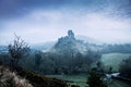 Corfe castle and village dorset jurassic coast world heritage site england uk Stock Photography