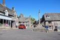 Corfe village centre. Royalty Free Stock Photo