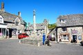 Corfe village centre. Royalty Free Stock Photo
