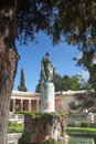Corfu adam statue general sir frederick s in front of the museum of asian art town as governor of the ionian he built an aquaduct Stock Images