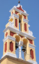 Corfu church tower venetian style bell in town Royalty Free Stock Image