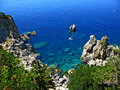Corfu cliffs 3 Stock Image