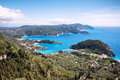 Corfu island beautiful landscape of in greece Stock Image