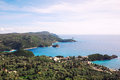 Corfu island beautiful landscape of in greece Royalty Free Stock Image