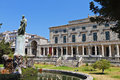 Corfu island in greece the british palace at Royalty Free Stock Photography
