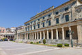 Corfu island in greece the british palace at Stock Photos
