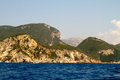 Corfu island greece seascape of coast and beaches in Stock Images