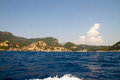 Corfu island greece seascape of coast and beaches in Stock Photos