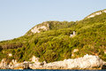 Corfu island greece seascape of coast and beaches in Stock Photography