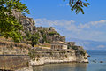 Corfu island in greece view of the old venetian castle at Stock Images