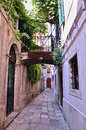 Corfu street narrow in old town of Royalty Free Stock Photography