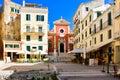 Corfu Town main square. Corfu island, in the Mediterranean sea Royalty Free Stock Photo