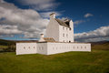 Corgarff castle aberdeenshire scotland strathdon is tower house fortress with an unusual star shaped perimeter wall built around Stock Images