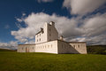 Corgarff castle aberdeenshire scotland strathdon is tower house fortress with an unusual star shaped perimeter wall built around Royalty Free Stock Images