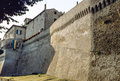 Corinaldo the walls ancona marches italy medieval Royalty Free Stock Images