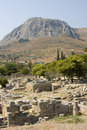 Corinth ancient ruins Royalty Free Stock Images