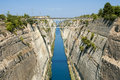 The corinth canal connects gulf of with saronic gulf in aegean sea Royalty Free Stock Photography