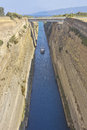 The corinth canal that connects gulf of with saronic gulf in aegean sea Royalty Free Stock Photos