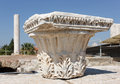 Corinthian capital in agora capitals ancient smirna izmir turkey under restoration Stock Image