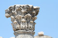 Corinthian capital in the ancient city ruins of ephesus turkey Stock Photo