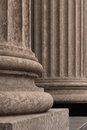 Corinthian columns base detail close up architectural of the of style stone pillars Stock Photo
