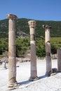 Corinthian columns near the agora ephesus turkey Stock Photography