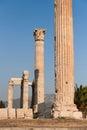 Corinthian columns of Olympian Zeus Temple Royalty Free Stock Photo