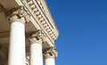 Corinthian columns ornately decorated blue sky Stock Images