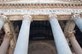 The Corinthian columns of the Pantheon. Rome. Royalty Free Stock Photography