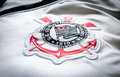 Corinthians soccer logo on an official jersey Royalty Free Stock Photo