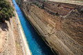 Corinthos canal water passage Stock Photos