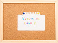 Cork board with a note Royalty Free Stock Photos