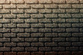 Cork bricks wall abstract background of brown Royalty Free Stock Images