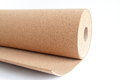 Cork roll wood isolated white Stock Image