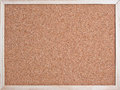 Corkboard isolated on white background macro Stock Photography