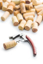 Corks and corkscrew. Royalty Free Stock Photo